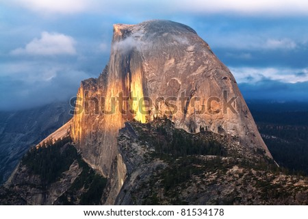 Half Dome, Yosemite National Park - stock photo