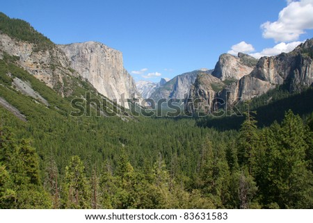 HALF DOME, YOSEMITE NATIONAL PARK, USA - stock photo