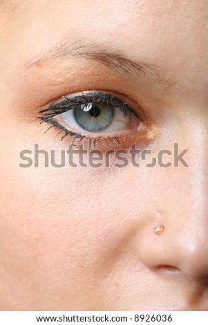 half face - stock photo