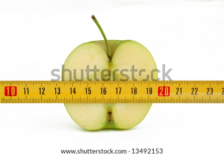 half green apple with yellow roulette