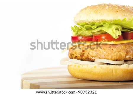 Half hamburger - stock photo