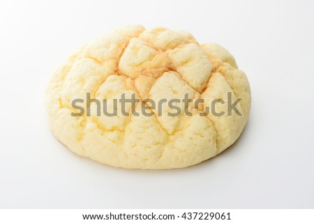 half-melon shaped bun, melon pan