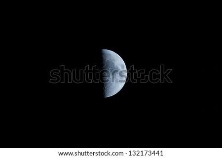 half moon in the night - stock photo