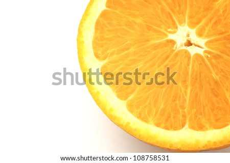 half navel oranges for health - stock photo