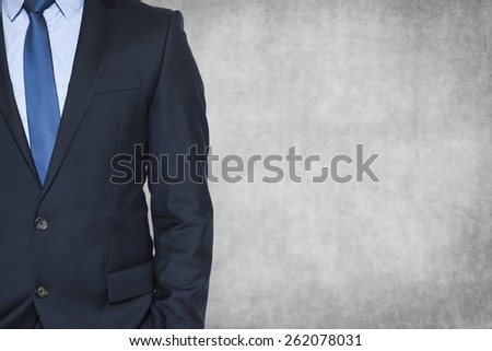half of businessman