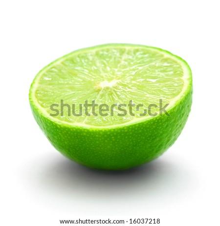 half of lime - stock photo
