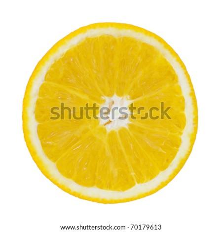 Half of orange isolated - stock photo