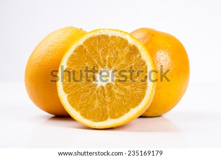 Half Orange fruit