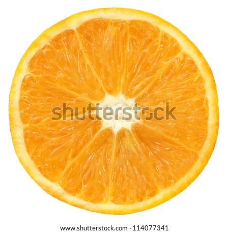 Half orange isolated over white background - stock photo