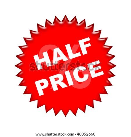 half price - stock photo