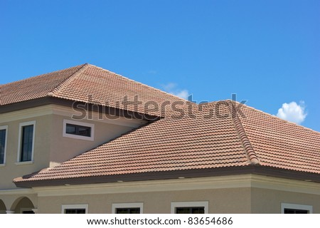 Clay tile stock images royalty free images vectors for Half round buildings