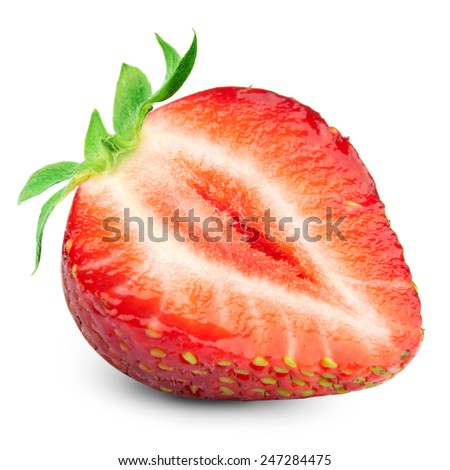 Half strawberry - stock photo