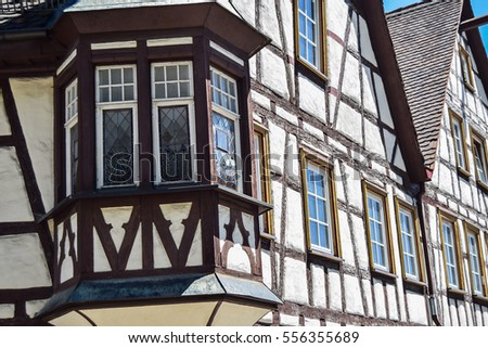 half-timbered house, full picture of half-timbered houses, Bavarian heritage, old, classic houses in germany, old town, danube area, timbered house, tuttlingen area, the upper section of the Danube