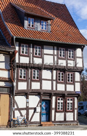 half-timbered house in Osterwieck, Germany
