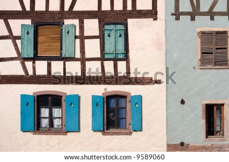 Half Timbered house in Strasbourg, France.