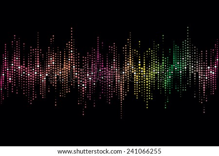Halftone colorful sound wave pattern modern music design element - stock photo