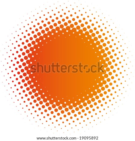 halftone design element   (vector in portfolio) - stock photo