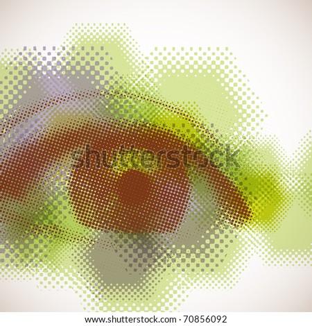 Halftone Eye - stock photo