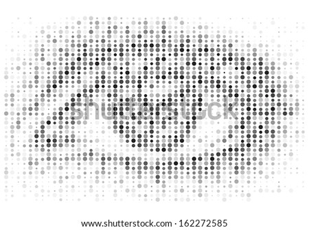 Halftone human eye mosaic - stock photo