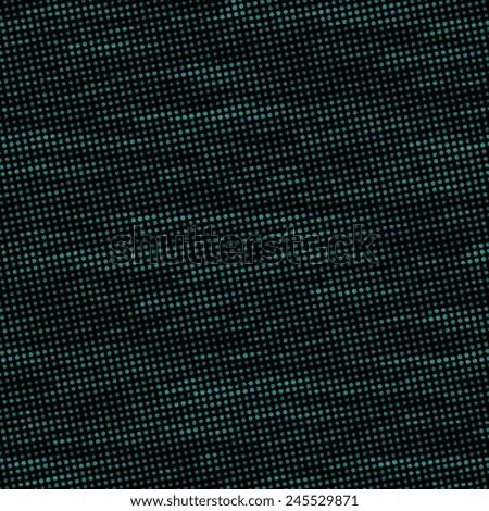 halftone pattern, dots and diamonds, dark background - stock photo