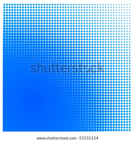 Halftone square - stock photo