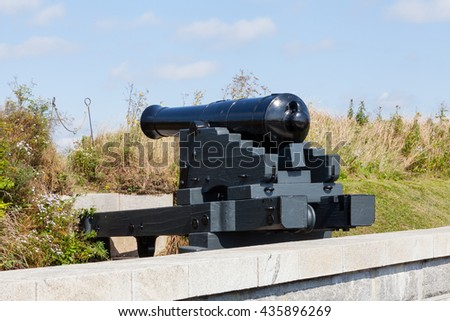HALIFAX, CANADA - SEPTEMBER 19:  A canon defends Fort George on Citadel Hill in Halifax, Nova Scotia, Canada and is pictured on September 19, 2015.
