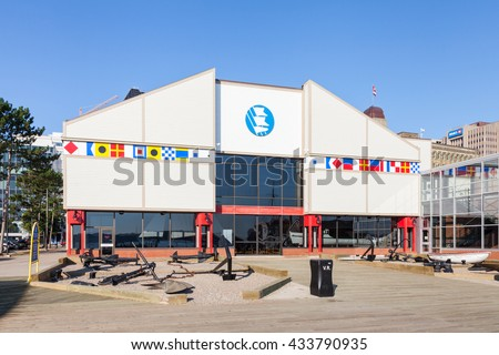HALIFAX, CANADA - SEPTEMBER 19:  The Maritime Museum of the Atlantic in Halifax, Nova Scotia, Canada is pictured on September 19, 2015. - stock photo