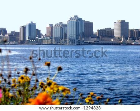 Halifax Harbour City Skyline - stock photo