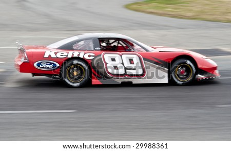 HALIFAX, NS - May 9: The #89 car of Donald Chisholm from the Maritime Pro Stock Tour at a Tech 'n Tune event at Scotia SpeedWorld on May 9th. - stock photo