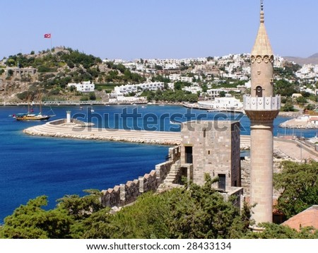 Halikarnas, modern Bodrum in Turkey - stock photo