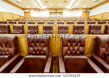 hall government meetings - stock photo