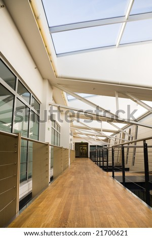 Hall in modern office building. - stock photo