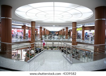 hall in the trade center - stock photo