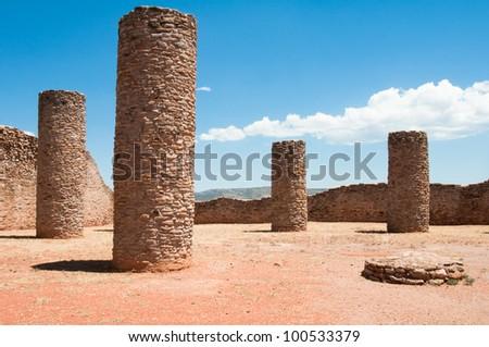 Hall of Columns, La Quemada, Zacatecas (Mexico) - stock photo