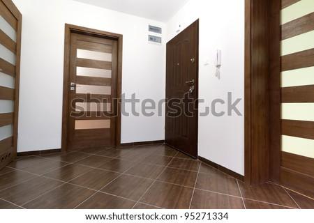 Hall of modern apartment interior - stock photo