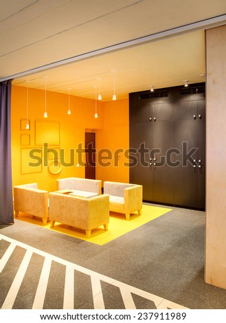 Hall of modern facilities in the loft style - stock photo