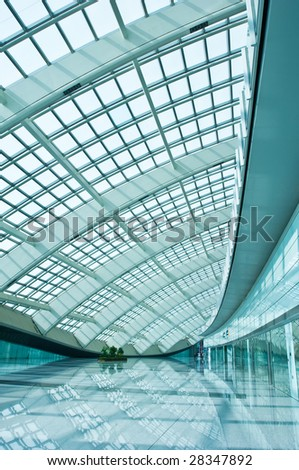 hall of the airfield in Beijing, China. - stock photo