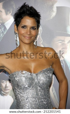 "Halle Berry at the Los Angeles premiere of ""Cloud Atlas"" held at the Grauman's Chinese Theatre in Los Angeles, California, United States on October 24, 2012. - stock photo"