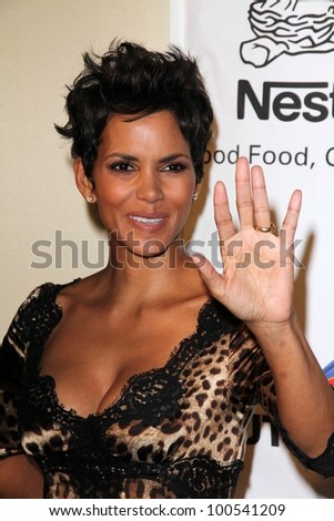 Halle Berry at the 2012 Silver Rose Gala, Beverly Hills Hotel, Beverly Hills, CA 04-14-12 - stock photo