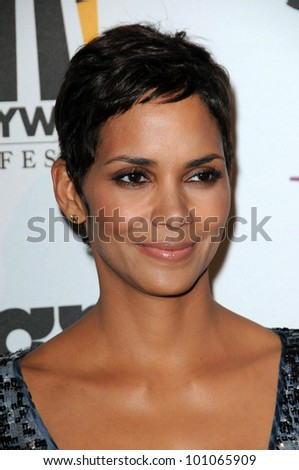 Halle Berry  at the 14th Annual Hollywood Awards Gala, Beverly Hilton Hotel, Beverly Hills, CA. 10-25-10 - stock photo