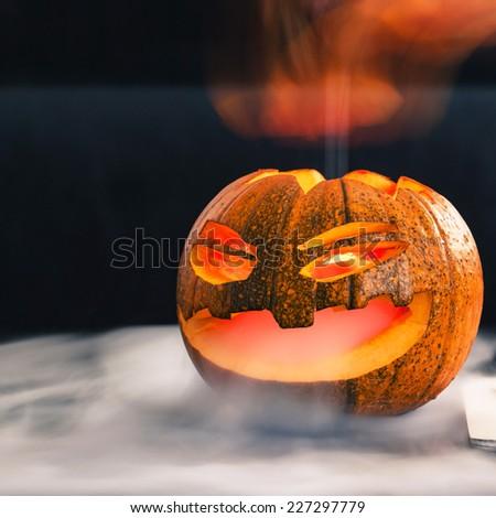 Halloweeen pumpkin - stock photo