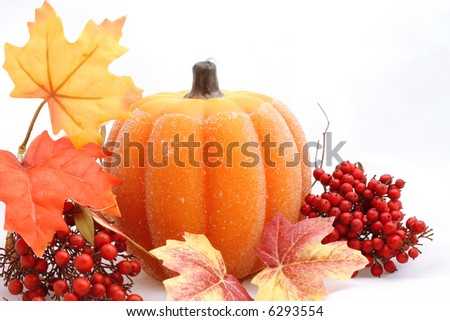 halloween and thanksgiving composition - stock photo