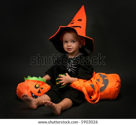Halloween - baby - stock photo