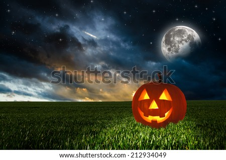 Halloween background. Elements of this image furnished by NASA. - stock photo