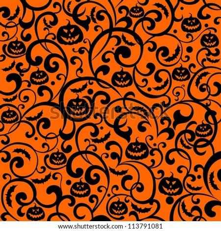 Halloween background.  illustration - stock photo