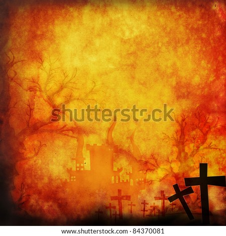 Halloween background make for recycle paper - stock photo