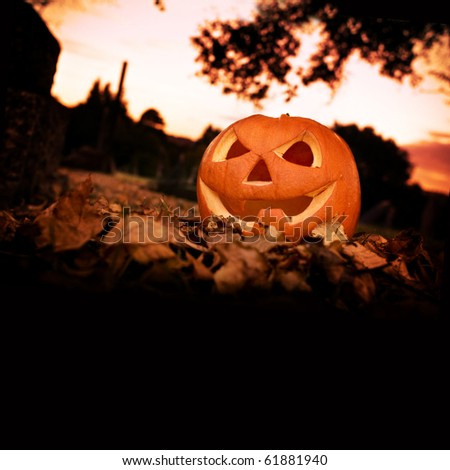 Halloween background with copy space. - stock photo