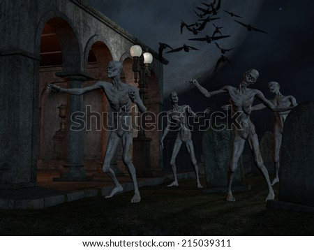 Halloween Background with creature