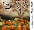 Halloween backgrounds - stock photo