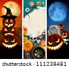 Halloween banners place for text. Check my portfolio for vector version. - stock photo